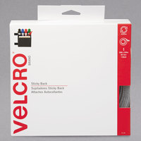Velcro® 91138 3/4 inch x 30' White Sticky-Back Hook and Loop Fastener Tape Roll with Dispenser