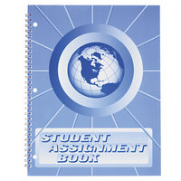 Ward SA98 11 inch x 8 1/2 inch 40 Week Student Assignment Book with Laminated Cover