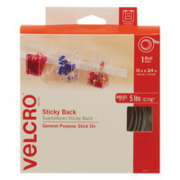 Velcro® 90082 3/4 inch x 15' White Sticky-Back Hook and Loop Fastener Tape Roll with Dispenser