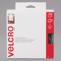 Velcro® 91325 3/4 inch x 15' Clear Sticky-Back Hook and Loop Fastener Tape Roll