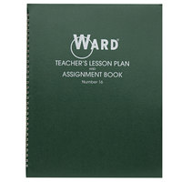 Ward 16 11 inch x 8 1/2 inch Green Wirebound 6 Class Periods / Day 100 Page Lesson Plan Book