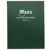 Ward 67L 11 inch x 8 1/2 inch Green Wirebound 38 Student / 6-7 Week Grading Class Record Book