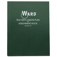 Ward 18 11 inch x 8 1/2 inch Green Wirebound 8 Class Periods / Day 100 Page Lesson Plan Book