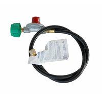 R & V Works 36 inch Rubber 10 PSI LP Gas Connector Hose and Regulator