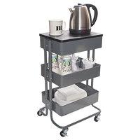 Vertiflex VF51025 13 15/16 inch x 11 3/4 inch x 39 1/2 inch Gray Multi-Use Storage Cart / Stand-Up Workstation