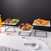 Acopa Square Plate Black Wire Riser 6-Piece Set