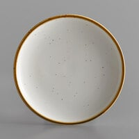 Acopa Keystone 7 inch Vanilla Bean Porcelain Coupe Plate - 4/Case