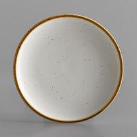 Acopa Keystone 7 inch Vanilla Bean Porcelain Coupe Plate - 4/Case