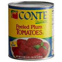 Conte Plum Tomatoes, Whole Peeled in Puree #10 Can