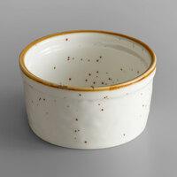 Acopa Keystone 7 oz. Vanilla Bean Porcelain Ramekin - 48/Case