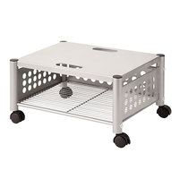 Vertiflex VF52005 21 1/2 inch x 17 7/8 inch x 11 1/2 inch Matte Gray One-Shelf Underdesk Machine Stand