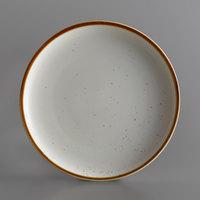 Acopa Keystone 10 1/2 inch Vanilla Bean Porcelain Coupe Plate - 4/Case