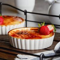 Acopa Keystone 6 oz. Vanilla Bean Porcelain Souffle / Creme Brulee Dish - 6/Case