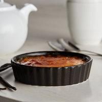 Acopa Keystone 6 oz. Caldera Porcelain Souffle / Creme Brulee Dish - 6/Case