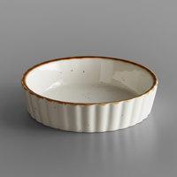 Acopa Keystone 6 oz. Vanilla Bean Porcelain Souffle / Creme Brulee Dish - 48/Case