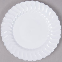 Fineline Flairware 206-WH 6 inch White Plastic Plate - 18/Pack