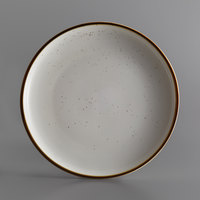 Acopa Keystone 12 1/2 inch Vanilla Bean Porcelain Coupe Plate - 12/Case