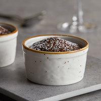 Acopa Keystone 4 oz. Vanilla Bean Porcelain Ramekin - 6/Case