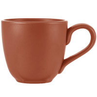World Tableware DRI-13-C Driftstone 12 oz. Clay Satin Matte Porcelain Mug - 12/Case