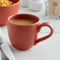 World Tableware DRI-13-C Driftstone 12 oz. Clay Satin Matte Porcelain Mug - 12/Case