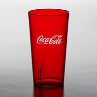Carlisle 52163550D Stackable 16 oz. Ruby Coca-Cola® SAN Plastic Tumbler - 72/Case