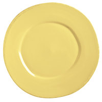 World Tableware FH-602B Farmhouse 9 inch Round Butter Yellow Medium Rim Porcelain Plate - 12/Case