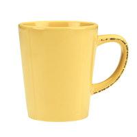 World Tableware FH-517B Farmhouse 12 oz. Butter Yellow Porcelain Mug - 36/Case