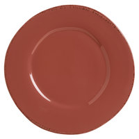 World Tableware FH-504R Farmhouse 12 inch Round Red Wide Rim Porcelain Plate - 12/Case