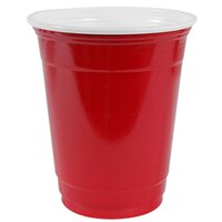 Dart Solo P16RLR-00011 Red 16 oz. Plastic Cup 50 / Pack