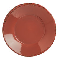 World Tableware FH-514R Farmhouse 27 oz. Round Barn Red Porcelain Soup and Salad Bowl - 12/Case