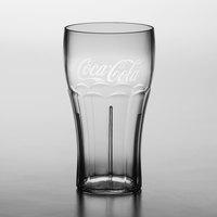 Carlisle 439945200 24 oz. Clear Coca-Cola® SAN Plastic Stackable Tumbler - 72/Case
