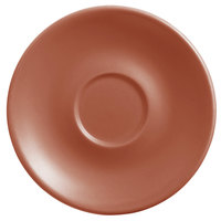 World Tableware DRI-14-C Driftstone 6 inch Clay Satin Matte Porcelain Saucer - 24/Case
