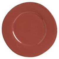World Tableware FH-602R Farmhouse 9 inch Round Red Medium Rim Porcelain Plate - 12/Case