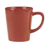 World Tableware FH-517R Farmhouse 12 oz. Red Porcelain Mug - 36/Case