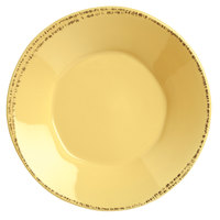 World Tableware FH-514B Farmhouse 27 oz. Round Butter Yellow Porcelain Soup and Salad Bowl - 12/Case