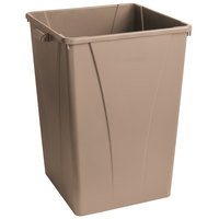 Carlisle 34393506 Centurian 35 Gallon Beige Square Trash Can