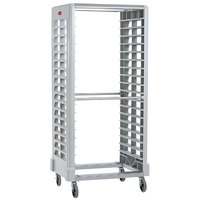 Rubbermaid FG331900OWHT ProServe 18 Pan Side Load Max System White Bun / Sheet Pan Rack - Unassembled