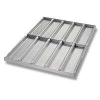 Chicago Metallic 49015 Glazed Full Size Sub / Sandwich Bun Pan - 10 Molds