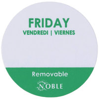 "Noble Products Friday 1"" Removable Day of the Week Label - 1000/Roll"