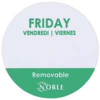 """Noble Products Friday 1"""" Removable Day of the Week Label - 1000/Roll"""