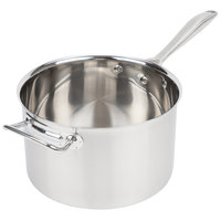 Vollrath 47743 Intrigue 7 Qt. Sauce Pan with Helper Handle