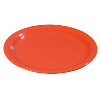 Carlisle 3300852 6 1/2 inch Sunset Orange Sierrus Narrow Rim Pie Plate - 48 / Case