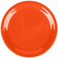 Carlisle 3300852 Sierrus 6 1/2 inch Sunset Orange Narrow Rim Melamine Pie Plate - 48/Case