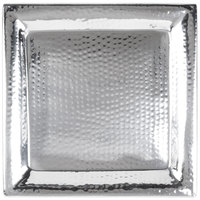 American Metalcraft HMSQ16 16 inch Square Hammered Stainless Steel Tray