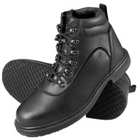 Genuine Grip 7130 Men's Black Steel Toe Non Slip Leather Boot with Zipper Lock
