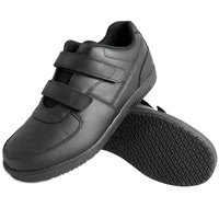 Genuine Grip 2030 Men's Black Leather Hook and Loop Closure Non Slip Shoe