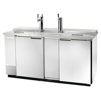 Beverage-Air DD58C-1-S 1 Single and 1 Double Tap Kegerator Beer Dispenser - Stainless Steel Front, (3) 1/2 Keg Capacity