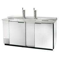 Beverage Air DD58C-1-S Club Top and Stainless Steel Front Beer Dispenser 59 inch - 3 Keg Kegerator
