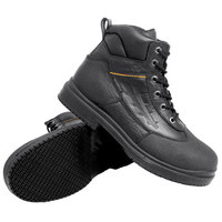 Genuine Grip 7800 Men's Black Injection Waterproof Steel Toe Non Slip Full Grain Leather Boot