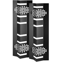 Rosseto SM310 Mosaic 18 inch Black Matte Multi-Level Riser - 2/Set